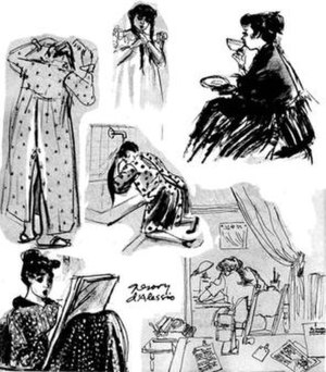 Hilda Terry - Sketches of Hilda Terry by her husband, Gregory d'Alessio
