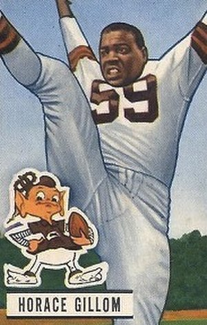 Horace Gillom - Gillom on a 1951 football card