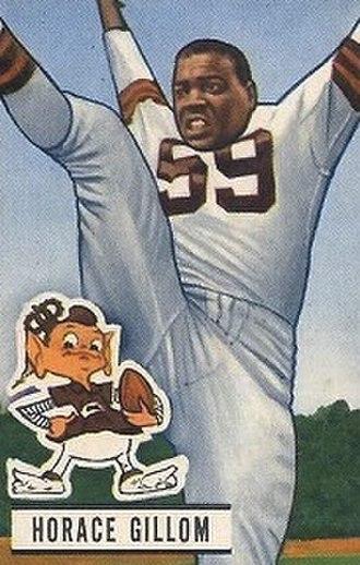 Horace Gillom - Gillom on a 1951 football card