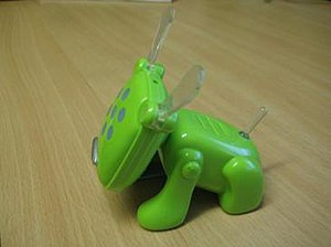 IDog - Green McDonald's toy version of the iDog, purchased in Romania, July 2007