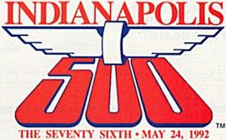 1992 Indianapolis 500 - Image: Indy 500logo 1992