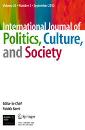 International Journal of Politics, Culture, and Society - Image: International Journal of Politics, Culture, and Society (front cover)