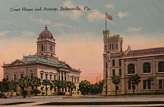 Duval County Courthouse - 1902 Courthouse (on left)