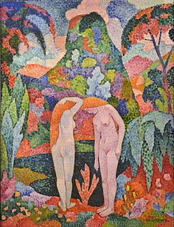 <i>Two Nudes in an Exotic Landscape</i> Painting by Jean Metzinger