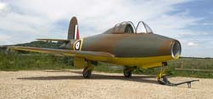 Gloster E.28/39 - A replica E.28/39 on display at the Jet Age Museum