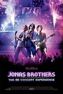 <i>Jonas Brothers: The 3D Concert Experience</i> Concert film directed by Bruce Hendricks