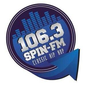 KRUZ (FM) - Image: KRRF 106.3 Spin FM logo