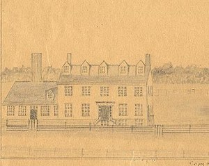 Kents Hill School - Original building of Maine Wesleyan Seminary with 1836 addition