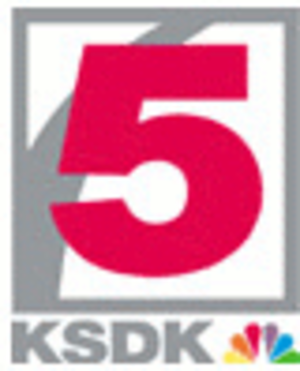 "KSDK - KSDK's former logo, used from 1993 to 2017, with an outline of the Gateway Arch behind the ""5""; from 1982 to 1993, the ""5"" in the same Helvetica typing was usually paired with the NBC logo (the 10-feather design until 1986, and the current six-feather design thereafter)."