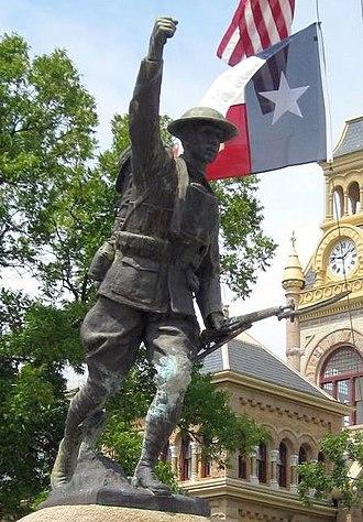 John Paulding (sculptor) - Image: Llano Paulding statue