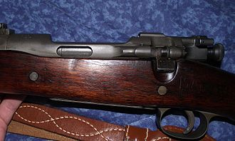 Pedersen device - Modified M1903 Springfield with ejection port on left side of receiver to accommodate Pedersen device.