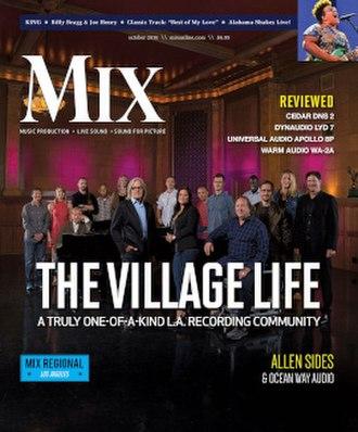 Mix (magazine) - Image: MIX October 2016 cover