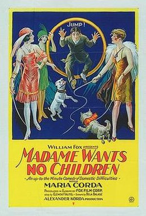 Madame Wants No Children - American release poster