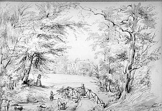 Marlay Park - 1837 sketch of Marlay Park Demense by Anne La Touche