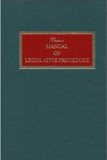 <i>Masons Manual of Legislative Procedure</i>