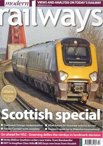 Modern Railways - Image: Modern Railways Feb 2012 front cover