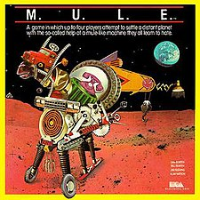 The box cover of M.U.L.E.