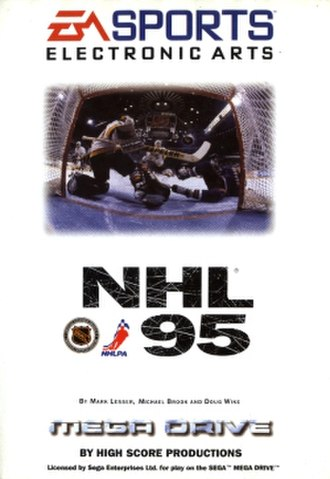 NHL (video game series) - NHL 95 cover for the Mega Drive.