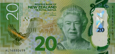 New Zealand 20 Note Sixth Issue