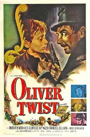 Oliver Twist (1948 film) - Theatrical release poster