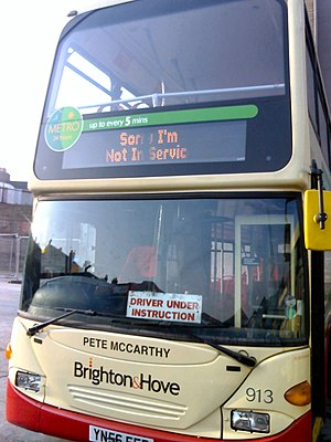 Pete McCarthy - A Brighton and Hove Bus named in honour of Pete McCarthy.