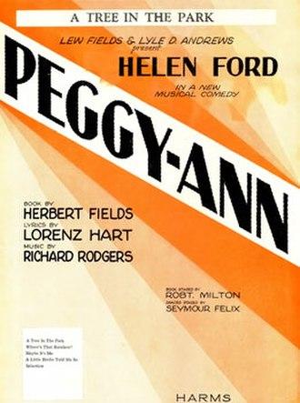 Peggy-Ann - Sheet music cover