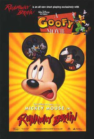 Runaway Brain - International theatrical release poster with A Goofy Movie