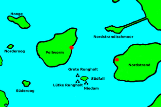 Rungholt - Likeliest locations of Rungholt