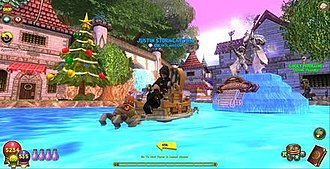 Wizard101 - Screenshot of a player in The Commons, Wizard City.