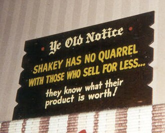 Shakey's Pizza - Image: Shakeysign 2