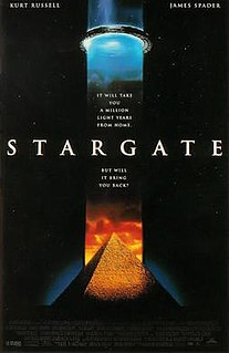 <i>Stargate</i> (film) 1994 American-French science fiction film directed by Roland Emmerich