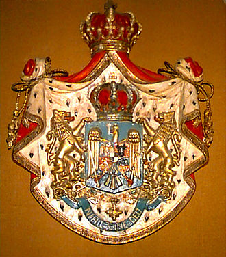 Hohenzollern-Sigmaringen - Major coat of arms of the kingdom of the Romanians (1922).