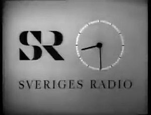 Sveriges Television - Sveriges Radio TV Clock in the 1960s