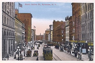 Downtown Syracuse - Downtown Syracuse during its golden years. This photo is of South Salina Street around 1915.