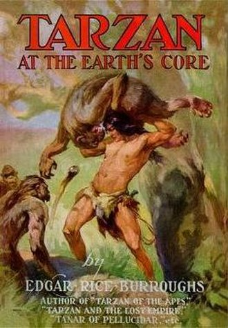 Tarzan at the Earth's Core - Dust-jacket illustration of Tarzan at the Earth's Core
