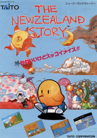 The NewZealand Story - Arcade flyer of The NewZealand Story