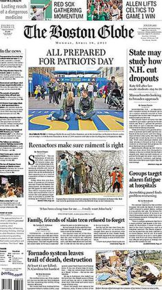 The Boston Globe - Image: The Boston Globe, April 18, 2011