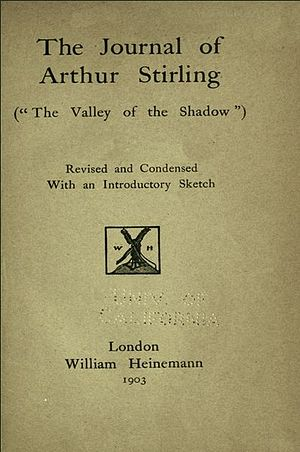 The Journal of Arthur Stirling - First UK edition