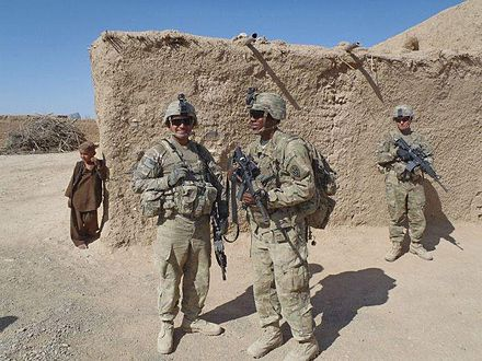 A US Army Combat Medic Center Left Viewers Right In Afghanistan
