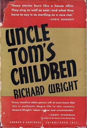 Uncle Tom's Children - First edition cover with quote from Harry Scherman