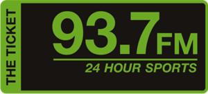 WKAD - Image: WKAD The Ticket 93.7 logo