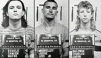 West Memphis Three - The West Memphis Three photographed after their arrest in June 1993 by the West Memphis Police Department