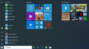 Start menu - Windows 10 New Start Menu