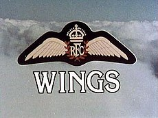 The title Wings Opening Title Screen.