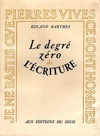 Writing Degree Zero - Cover of the first edition