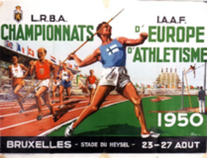 1950 European Athletics Championships - Image: 1950 European Athletics Championships logo