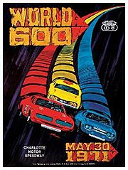 Official poster for the 1971 World 600