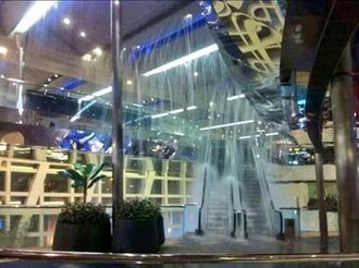 Festival Walk - Water leaking into the mall
