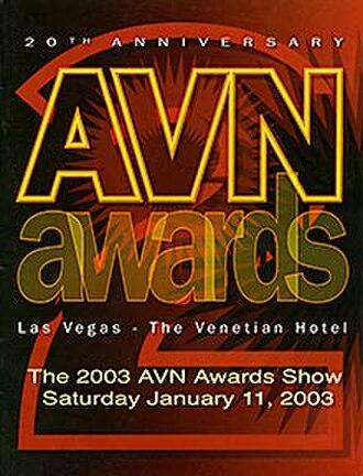 20th AVN Awards - 2003 AVN Awards Show Program cover