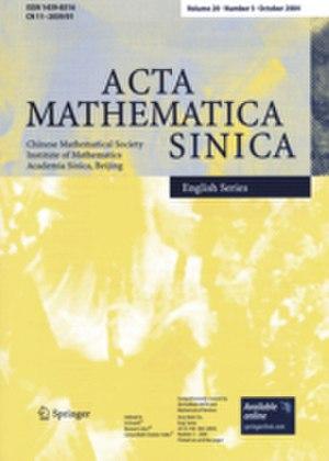 Acta Mathematica Sinica - Image: Acta Mathematica Sinica